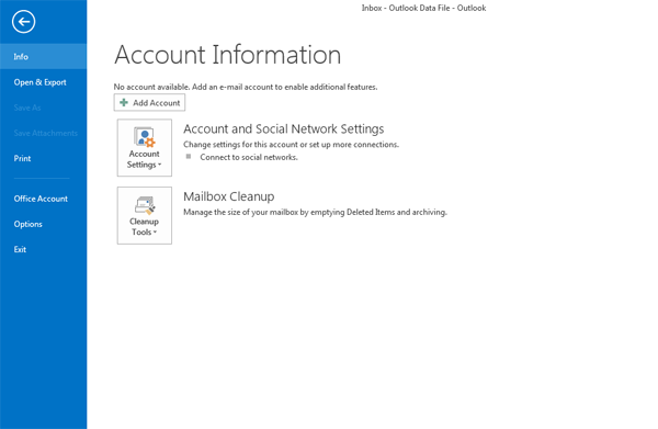 How to setup POP or IMAP email in MS Outlook 2013 - Pipe Ten
